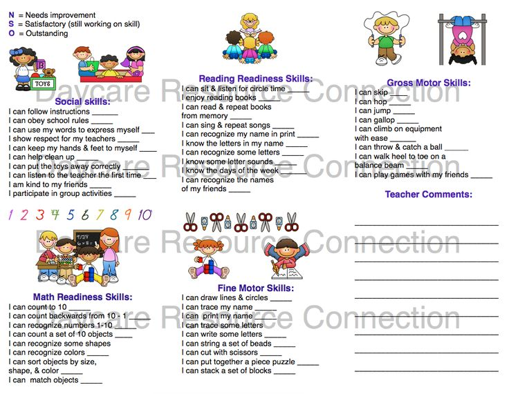 Best Assessment Images On   Preschool Assessment Forms