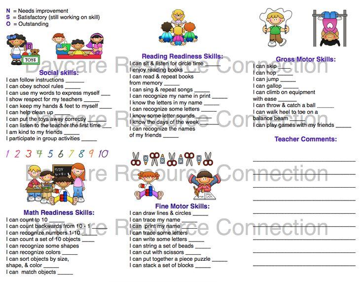 8 Best Assessment Images On Pinterest Preschool