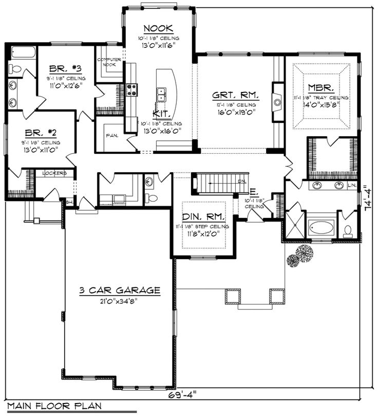 House Plan Chp 55604