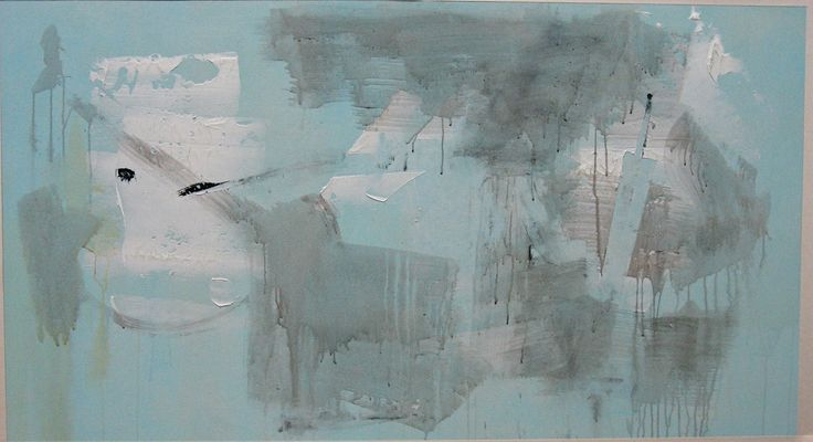 """Blue Mist"" 2012.  Acrylic on canvas."