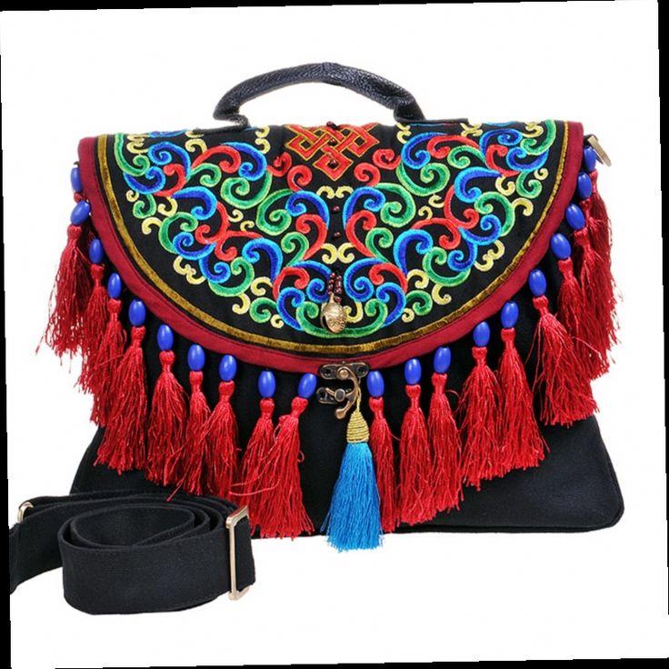 44.92$  Buy now - http://alietl.worldwells.pw/go.php?t=1019444465 - New 2017 fashion women's handbag national trend shoulder handbag canvas bag messenger bag women's handbag 44.92$