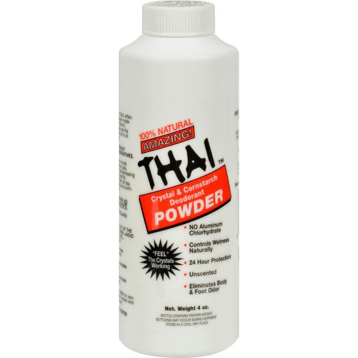 Thai Deodorant Stone Crystal And Corn Starch Deodorant Body Powder - 3 oz