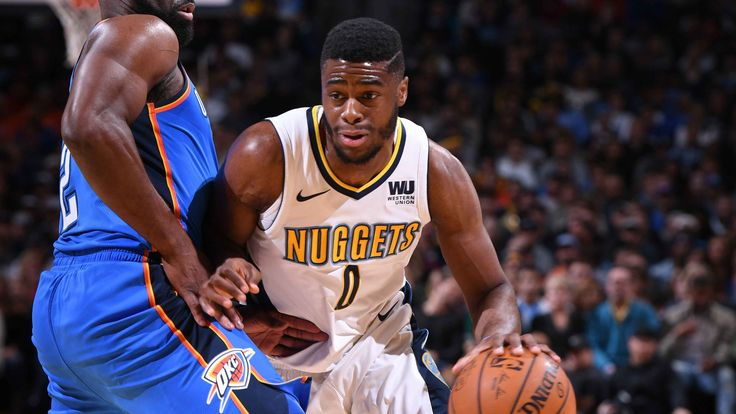 Emmanuel Mudiay scores 21 points and adds seven rebounds in the Nuggets 102-94 win over the Thunder