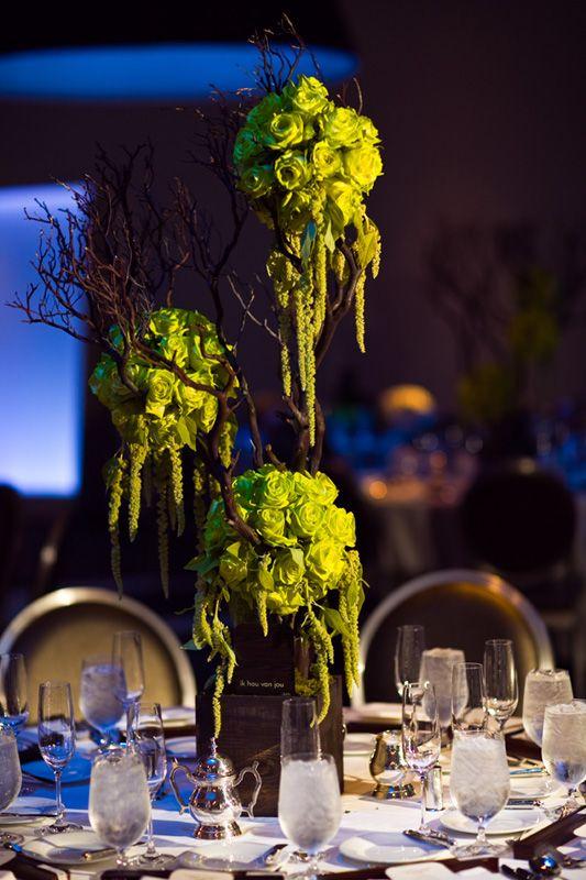Real weddings angel angela manzanita green colors