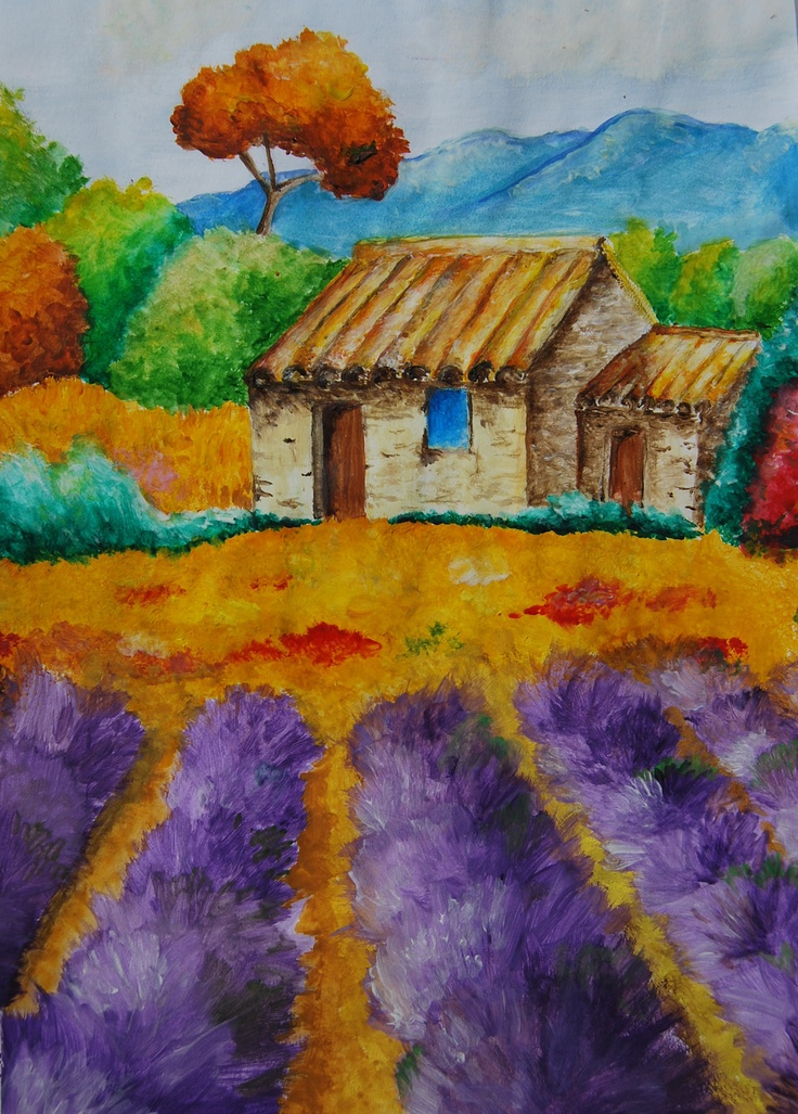Cottage painting, Abigail Chapman, Year 8