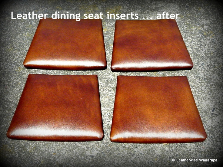 Refurbished seat inserts with new leather recoloured to match original.