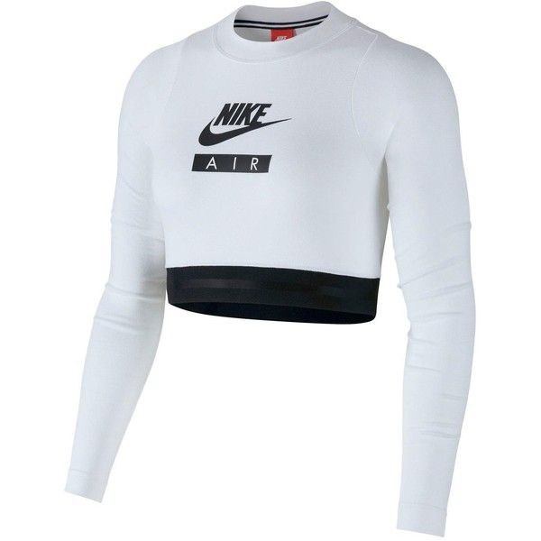 c51c770b Nike Sportswear Air Long Sleeve Crop Top ($39) ❤ liked on Polyvore  featuring nike