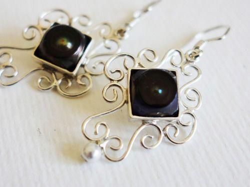 Sterling silver earrings with pearls Design&Handmade by K.Tokar