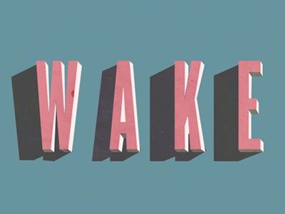 wake - typography