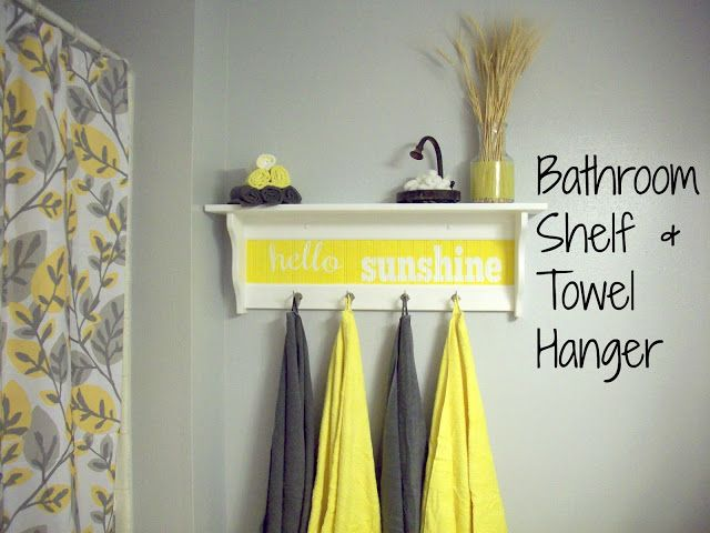 Bathroom shelf towel hanger Bathroom Makeover