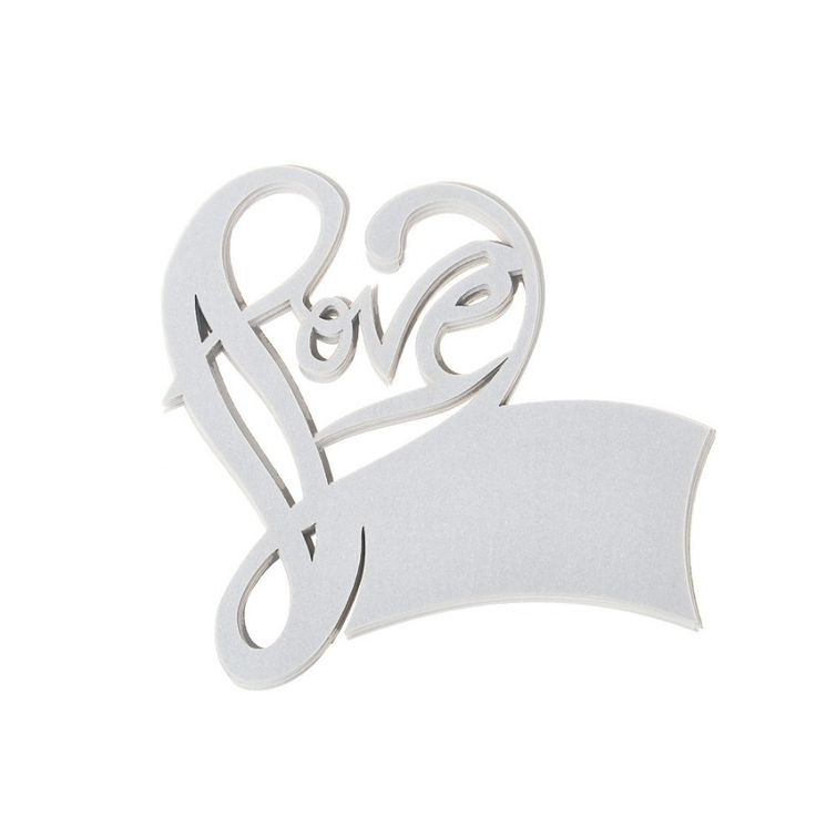 love heart design silver 335inch paper 120pcs wedding cup place card wine glass