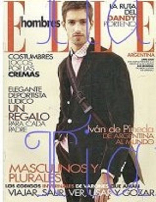 Maximiliano Patane ELLE Hombres Argentine 2007 Magazine Cover