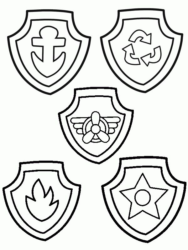 Paw Patrol Badges Coloring Pages Free Online Printable Sheets For Kids Get The Latest Images