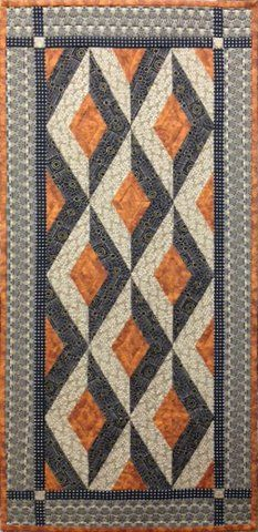 Facets Table Runner- Black/Brown by Lonni Rossi. Link to free pattern at Andover.
