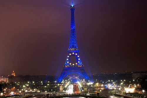 Blue Eiffel Tower - exactly how I remember it!