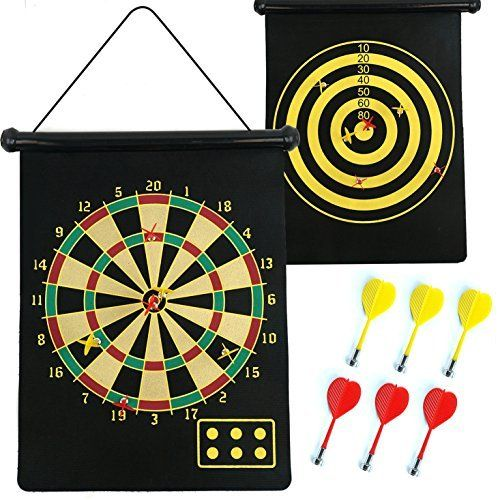 MAGNETIC DARTBOARD ROLL UP WITH 6 MAGNET DARTS DOUBLE SIDED KIDS DART BOARD GAME Fusion (TM), http://www.amazon.co.uk/dp/B00UD6NHAG/ref=cm_sw_r_pi_awdl_x_FjOeyb2FP4Z9P