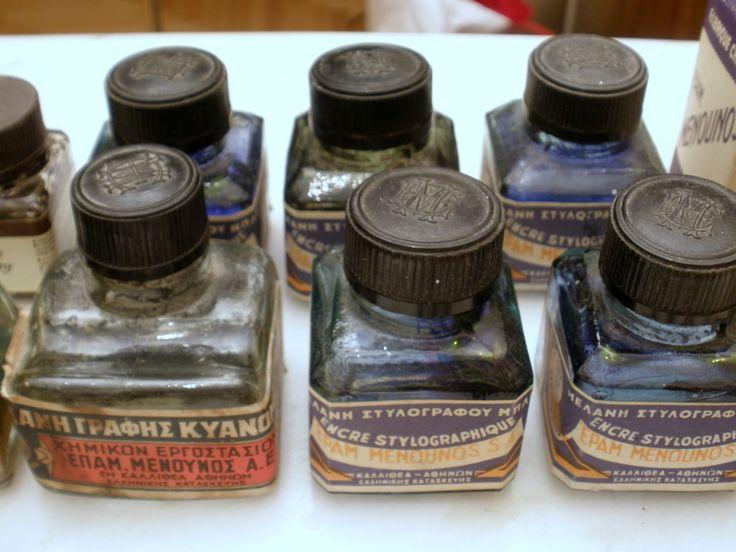 Menounos ink bottles