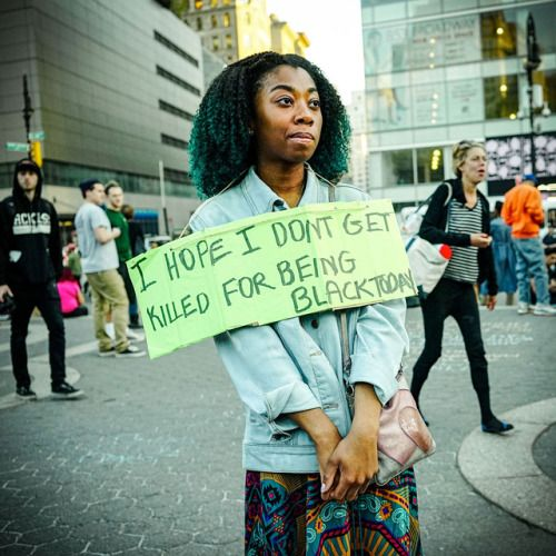 Black Today (When Living is a Protest Series), May 1, 2015 Photo credit: Ruddy Roye — at Union Square, New York, Manhattan.