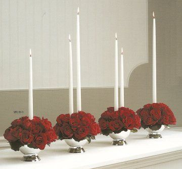 Head table: containers similar to this so bridesmaids to put in their bouquets as flowers for head table. No Candles
