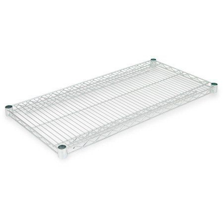 Alera Industrial Wire Shelving Extra Wire Shelves, 36 inchW x 18 inchD, 2 Shelves Per Carton, Available in Silver or Black