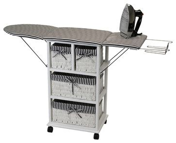 Corner II Nordic Furniture 2-in-1 Ironing Board/Shelf - traditional - Ironing Boards - Beyond Stores