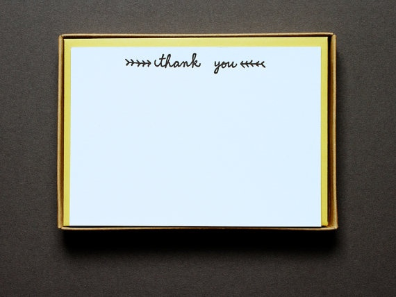 """GRASS black"""" thank you notes 10 flat notes by Iron Curtain Press"""