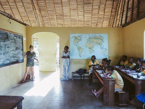Advanced English class with Sydney in Antitorono on Nosy Komba. #MRCI #madagascarvolunteer