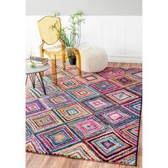 nuLOOM Contemporary Endless Windows Multi Kids Rug (5' x 8')