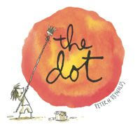 The Dot is a wonderful story of a girl who thinks she cannot to art. At her art teacher's insistance , she finally makes a dot on the paper, and then begins to try other ways to make dots. Along the way, she begins to see herself as a artist.  It's a great beginning of the year book, and one all students can relate to in one way or another.