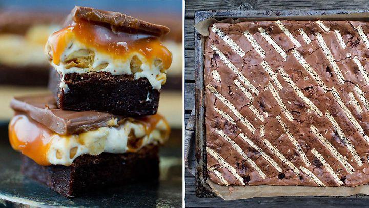 Brownies med salte peanøtter, blondies av hvit sjokolade, og fire andre uimotståelige sjokoladefristelser.