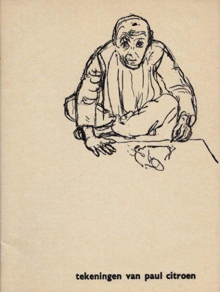 """""""Tekeningen van Paul Citroen"""" Exhibition Catalog, Stedelijk Van Abbemuseum, Eindhoven, Designed by Wim Crouwel and Kho Liang Ie, 1958"""