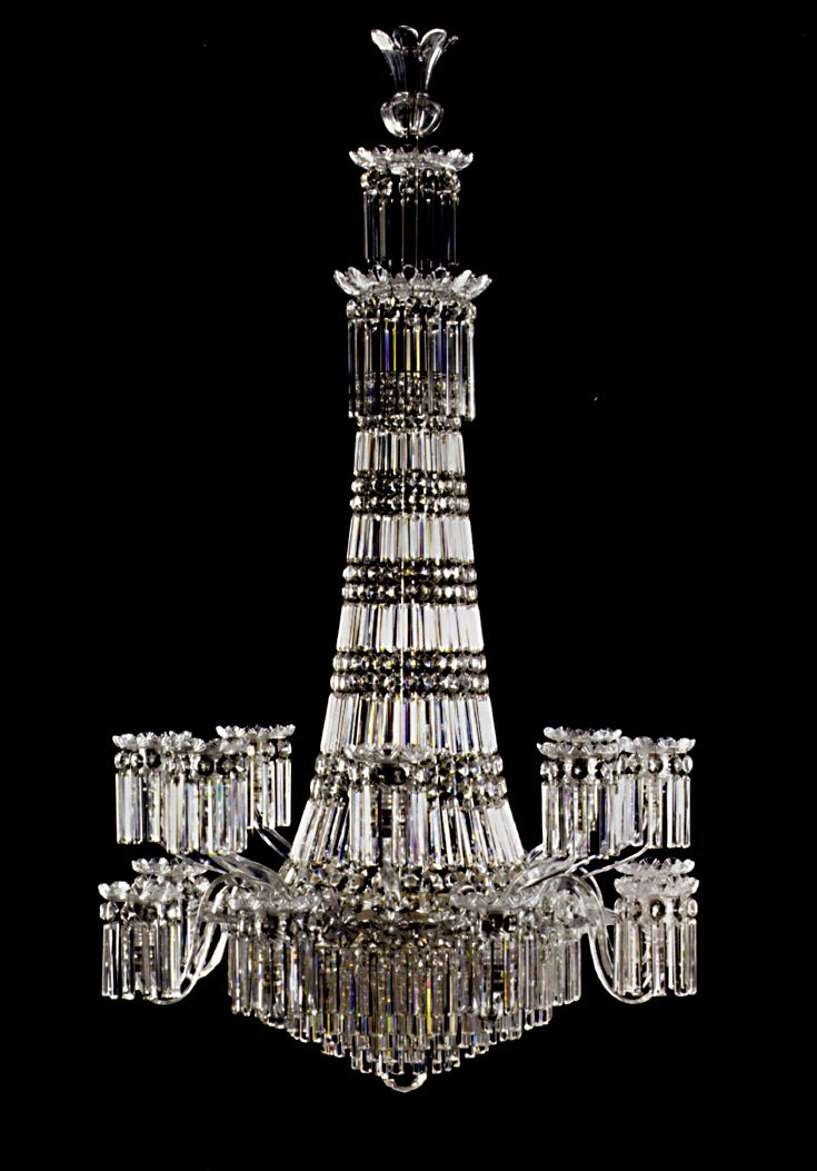 SUPERB WATERFALL William IV Cut Glass Chandelier, English ca 1820 - 138 Best Antique Lighting Devices Images On Pinterest Antique
