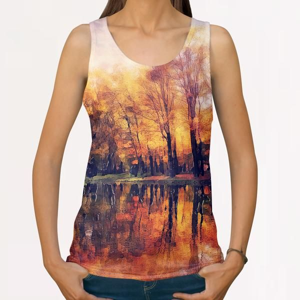 Cracow autumn All Over Print Tanks by jbjart