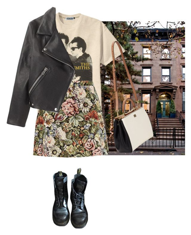 """""""pine-trees and ghosts"""" by junk-food ❤ liked on Polyvore featuring moda, La Vie en Rose, River Island, Dolce&Gabbana, Dr. Martens y Acne Studios"""