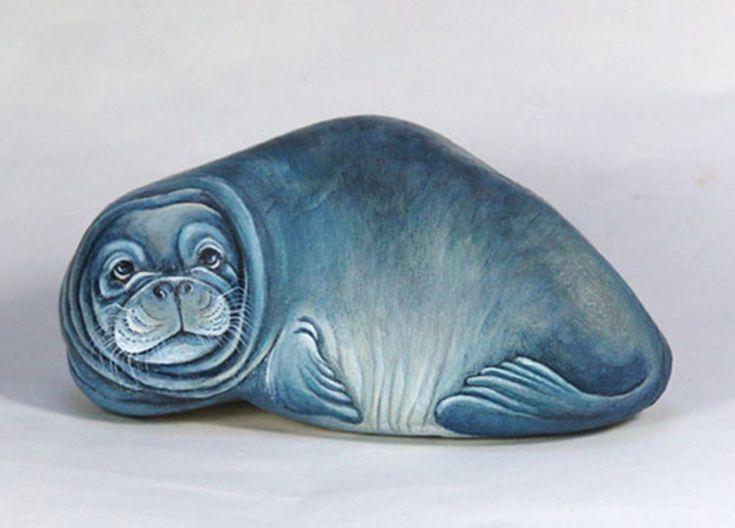 Hermosas Pinturas De Animales En Piedras Por Ernestina Gallina | FuriaMag | Arts Magazine