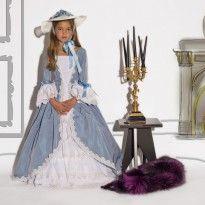 Marie Antoinette à Versailles Soie Bleu