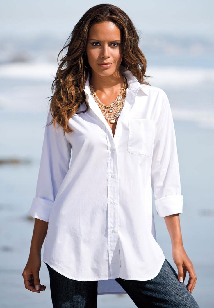 8 best White shirt style images on Pinterest | White blouses ...