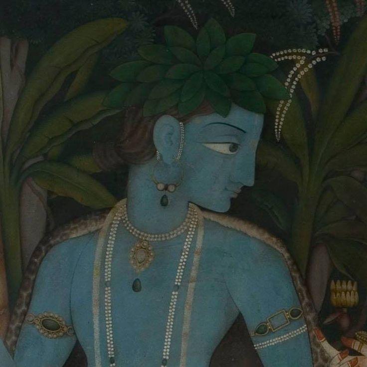 Rama, detail of pahari painting