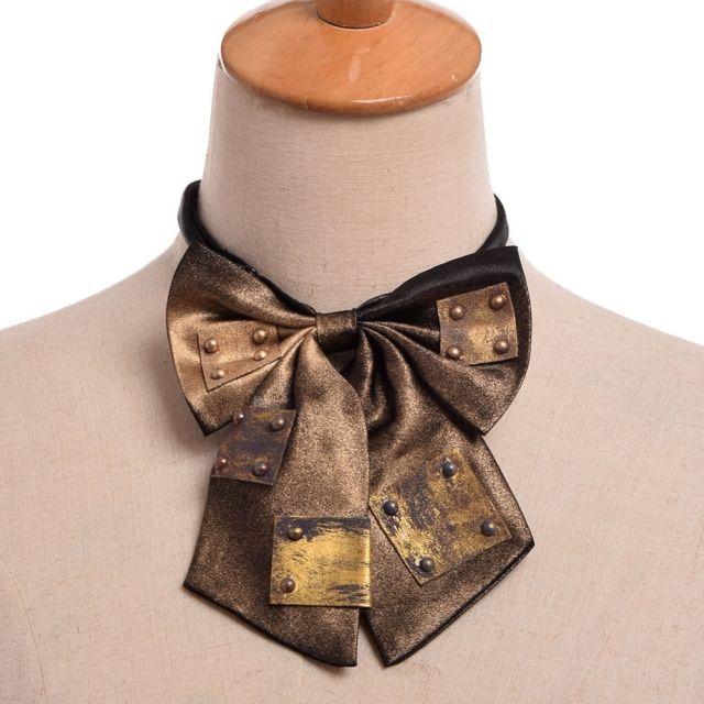 1pc Steampunk Gear Bowknot Bowtie Industrial Victorian Costume Accessory Lolita