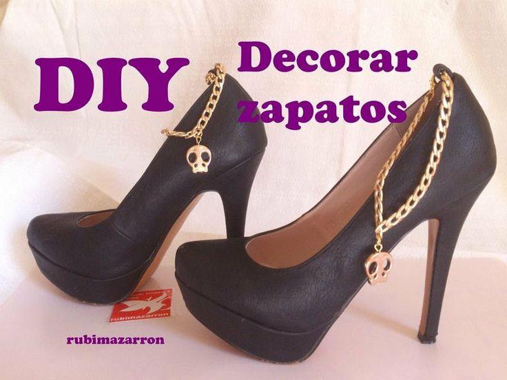 Tacón Zapatos Con Cadenas Y CalaverasReciclaje DiyDecorar De srtdhQ