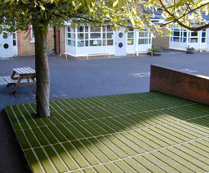 Treated Softwood Timber With Artificial Grass Inserts