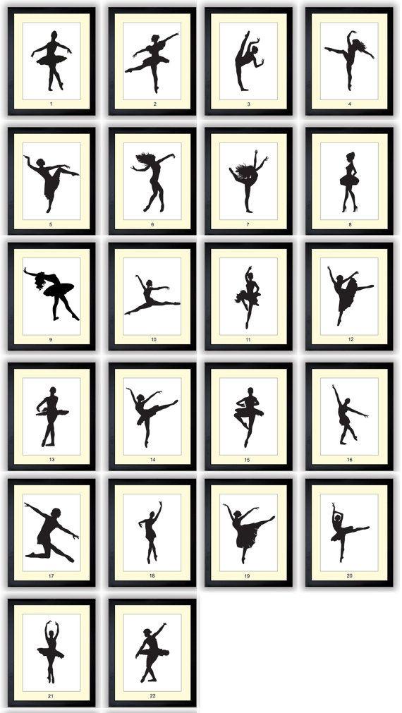 Ballet Ballerina danser silhouet Prints Mix en Match Girls kwekerij Art kind Baby Art Print Kids kamer Wall Art Decor  Dit is een mix en match aanbieding en de prijs is voor 1 van uw keuze beschikbaar per e-mail afdrukken of in uw keuze van 4 x 6, 5 x 7 en 8 x 8 afgedrukt *, 8 x 10, 10  x 10 * of 11 x 14. Bijvoorbeeld: Als u 2 afdrukken wilt, selecteer u hoeveelheid 2 vanuit naar de waterdruppel naar beneden...  Aangeven welke print(s) u geïnteresseerd bent in op bijvoorbeeld controleren…