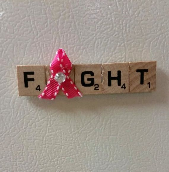 Scrabble Tile Awareness Magnets need to do some orange ribbon ones to for my Besties Granddaughter
