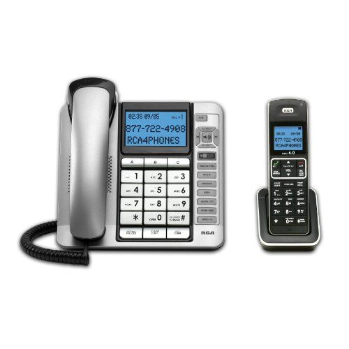 RCA 7114-2 2 Corded/Cordless Combo ITAD Phone Top Office Shop
