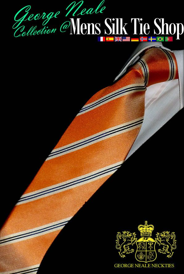 corbata seda naranja