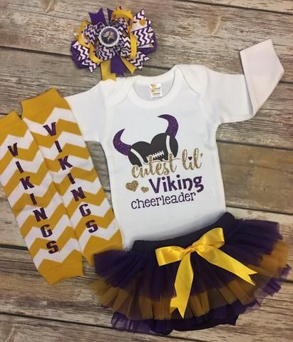 7df82a9fb Minnesota Vikings Baby Girl Outfit | Game Day-Football Season ...