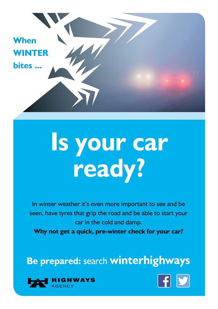 Check your car is ready before winter - or at least before the bad weather sets in  (poor visibility - make sure your lights work)