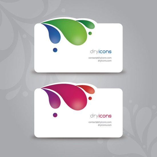 Best Free Business Card Templates Images On Pinterest Free - Die cut business cards templates