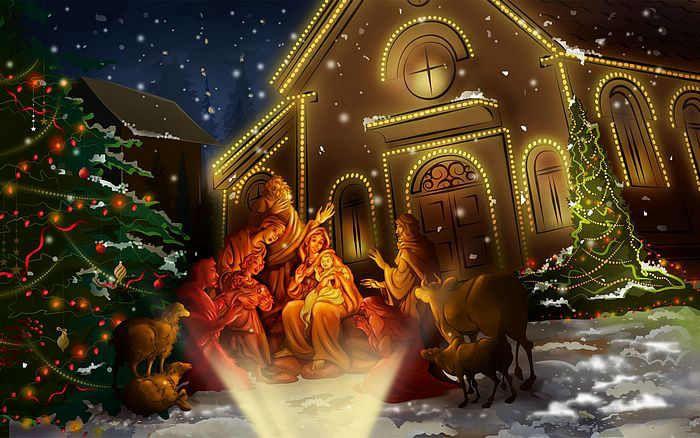 Pin On Escenas Paisajes Christmas wallpaper jesus images hd