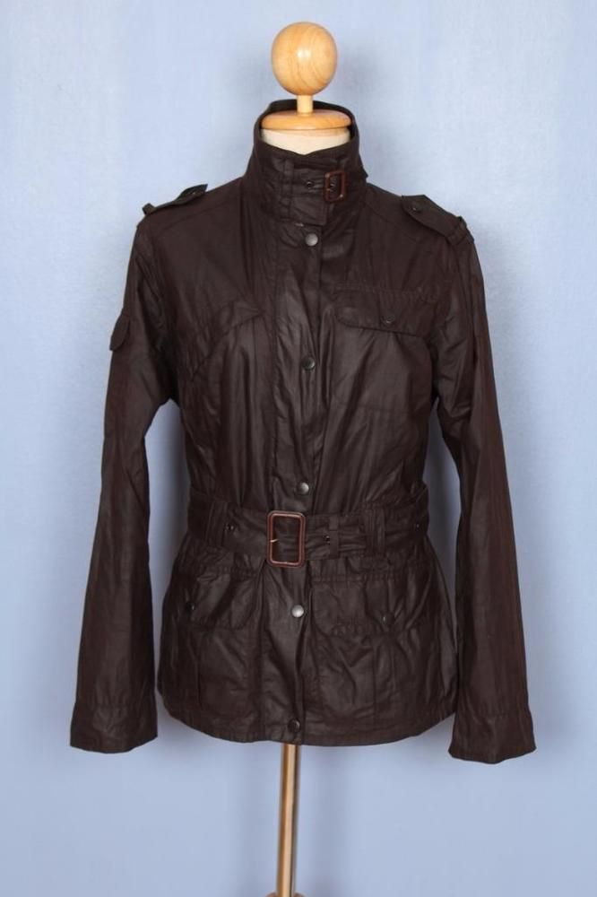 Womens BARBOUR Flyweight Amelia WAXED Jacket Brown Size UK 12, US8 #Barbour #Raincoats #Outdoor